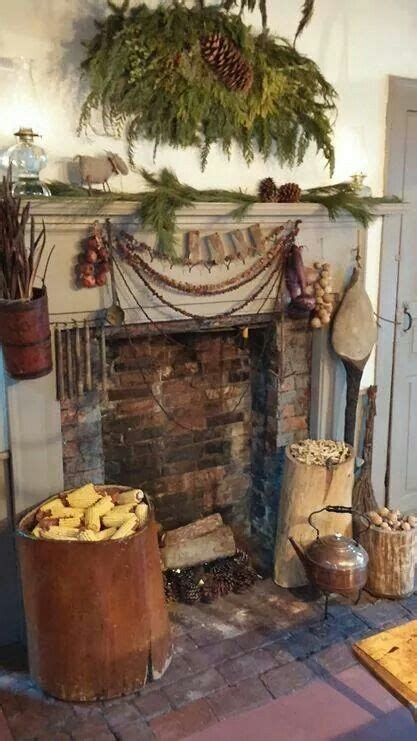 Colonial Fireplace Primitive