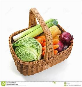 Fresh Vegetables In A Basket Royalty Free Stock Photos ...