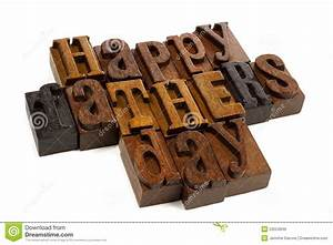 Happy Fathers Day Vintage Wood Letters Stock Image - Image ...