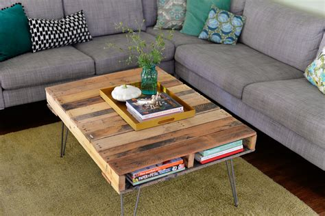 diy desk with hairpin legs diy pallet table with hairpin legs