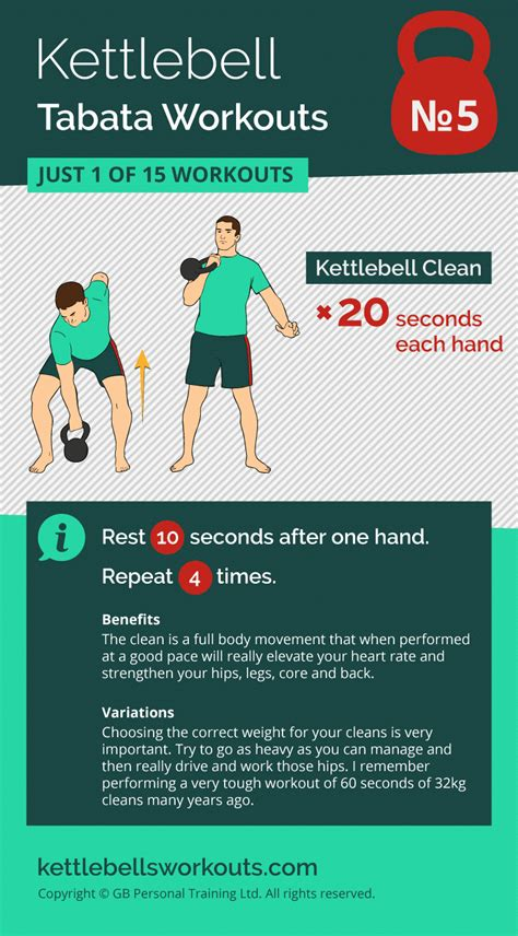 tabata kettlebell workout workouts hiit burn fat clean