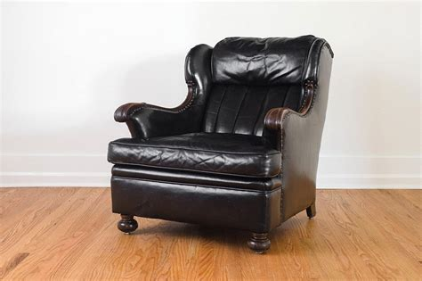 black leather reading chair homestead seattle