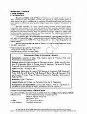 Grade 10 module 4 unit 2 lesson 2 answers