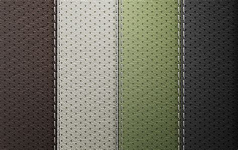 perforated leather seamless texture set