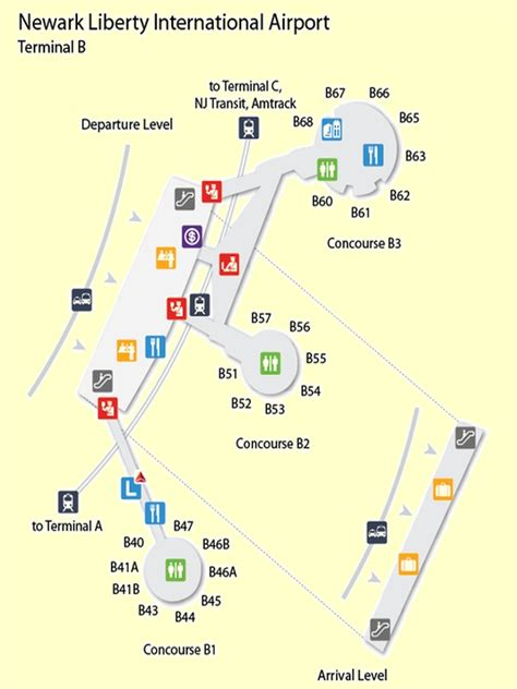 26 Newark Terminal A Map Maps Online For You
