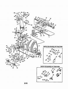 Craftsman Snow Thrower Tractor Attachment Parts