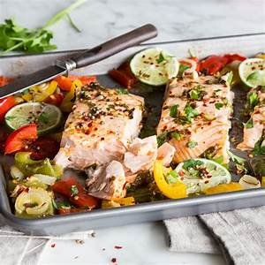 Tiefkühl Lachs Zubereiten : alles von einem blech chili limetten lachs mit paprika ~ Markanthonyermac.com Haus und Dekorationen