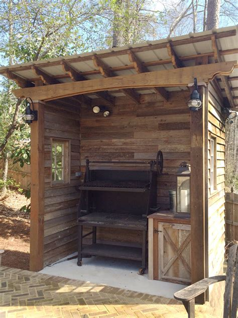 barbecue shed designed  built  atlanta decking bbq