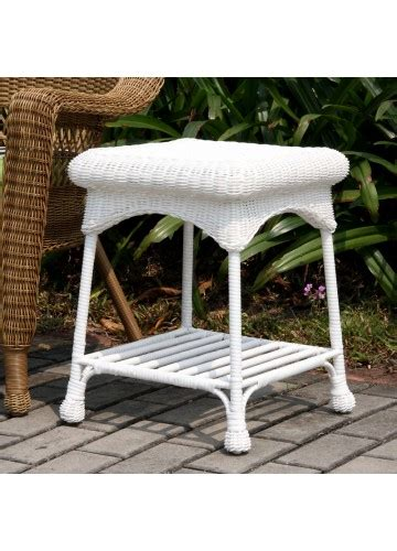 outdoor resin wicker end table outdoor white resin wicker end table