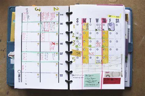 month  double week diy planner template   ahhh design