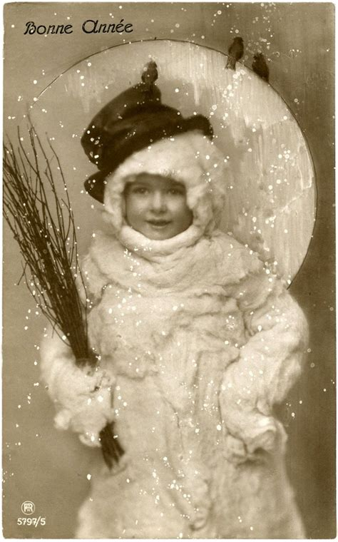 vintage snowman image funny  photo  graphics fairy