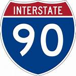 90 Svg Interstate Highway Sign Wikipedia Route
