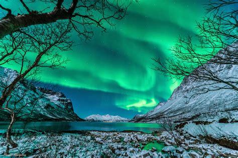 stunning green auroras  st paddys day snow