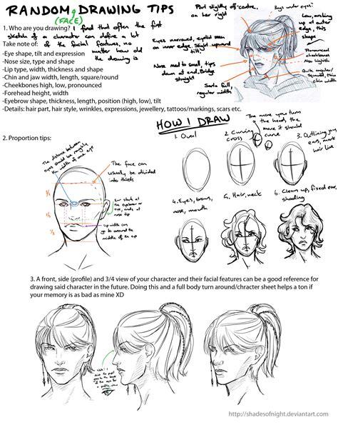 random face drawing tips  shadesofnight  deviantart