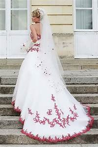 robe de mariee rouge et blanc With robe de mariée rouge avec alliance or blanc