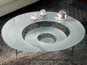 futuristic spiral coffee table