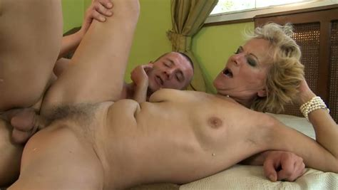 Old Woman Gets Her Hairy Pussy Fucked Deep And Hard