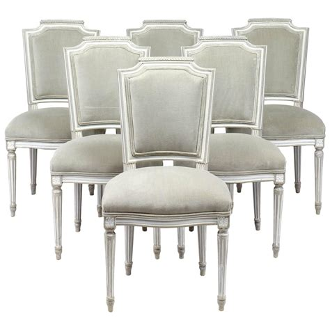antique louis xvi style set of six dining chairs at 1stdibs