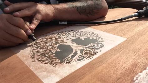 dremel wood carving project headboard part  youtube