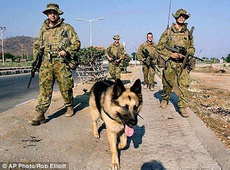 army dog treated  post traumatic stress disorder