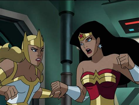Kiss Anime Justice League Wonder Woman And Hawkgirl Kiss