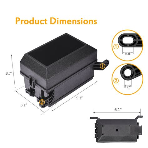 Picture And Description Of The Fuse And Relay Box On A 97 Toyotum Camry by 12 Slot Relay Box Auto 6 Relay Block Holder 5 Road For Car