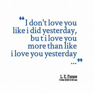 I Love You Like Quotes. QuotesGram