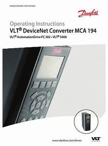 Danfoss Mca 194 Operating Instructions Manual Pdf Download