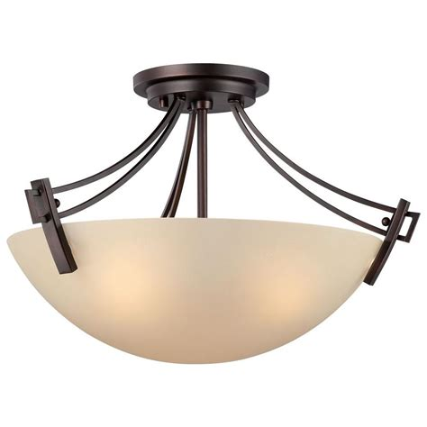 home depot flush mount ceiling light fixtures thomas lighting wright 3 light espresso ceiling semi flush