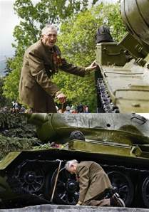 Images of Old WW2 Russian Veteran Tank