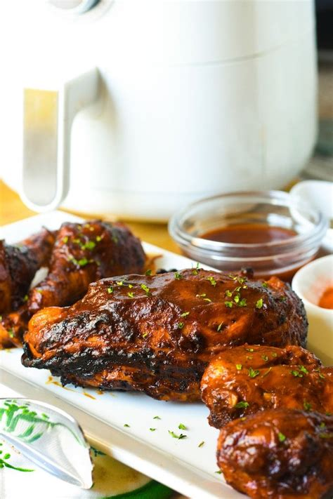 fryer air chicken bbq grill recipes dinner recipe barbecue thighs hopefully conditioned comfort kitchen right sauce barbeque thecookful