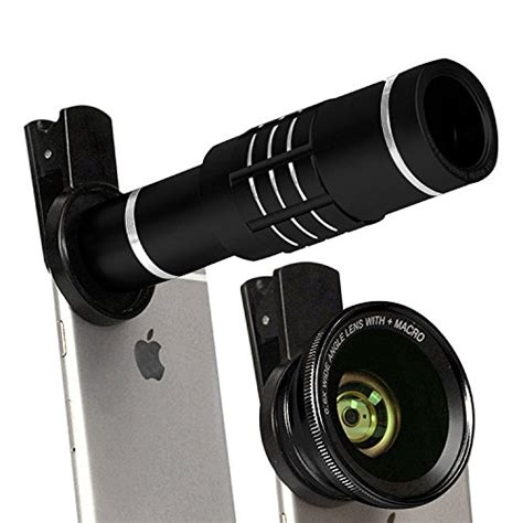 iphone attachment iphone 6 215 18 zoom attachment slipperybrick elecguru hd clip on lens kit universal 18x zoom