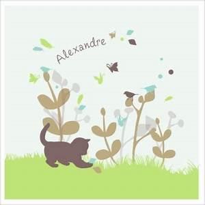 echantillon fairep chaton bleu lili pouce stickers With tapis chambre bébé avec faire part naissance fleur