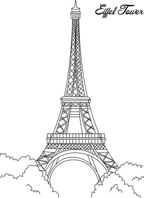 coloring pages eiffel tower mandala coloring