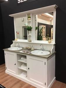 Möbel Country Style : waschtisch wei massivholz doppelwaschtisch im landhausstil mit spiegel bad waschtische ~ Sanjose-hotels-ca.com Haus und Dekorationen