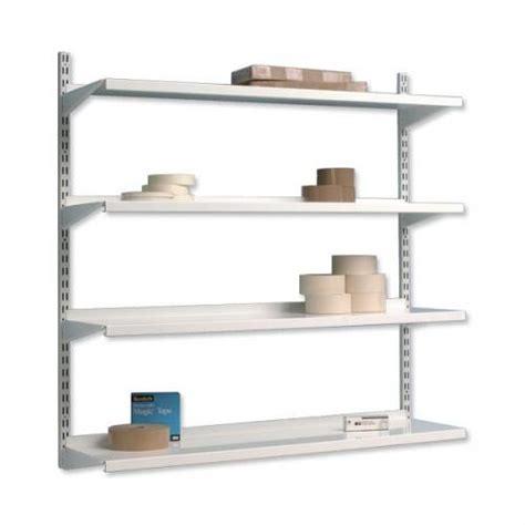 Wall Bracket Shelf System by Trexus Top Shelf Shelving Unit System 4 Shelves Metal 99067x