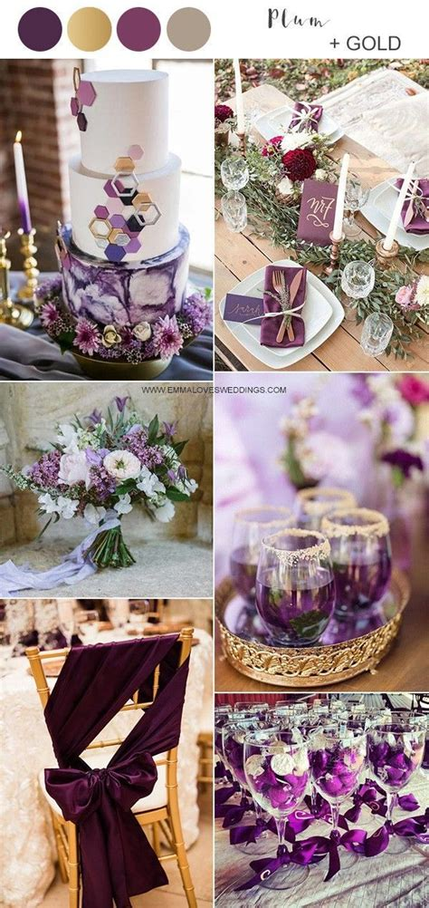 Pin by Julie Castiaux on wedding in 2020 Purple and gold