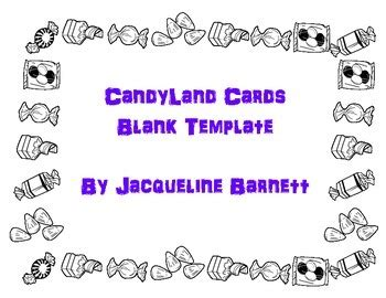 candyland cards template blanks  mon petit magasin francais