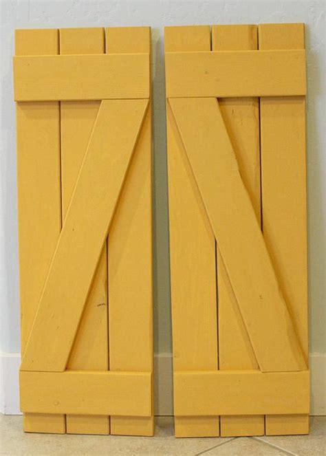 diy yellow distressed shutters project  decoart