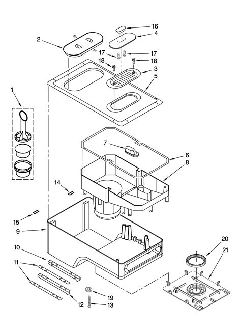 Read product specifications, calculate tax and shipping charges, sort your results, and buy with confidence. WATER RESERVOIR PARTS Diagram & Parts List for Model KPCM050OB0 Kitchenaid-Parts Coffee-Maker ...