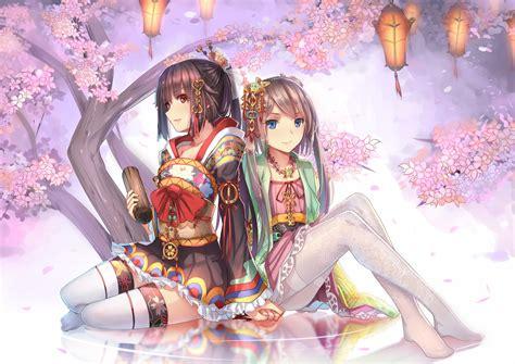 Japanese Anime Wallpaper - anime cherry blossom wallpaper 72 images