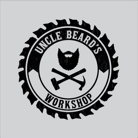 circular logo  uncle beards workshop logos design