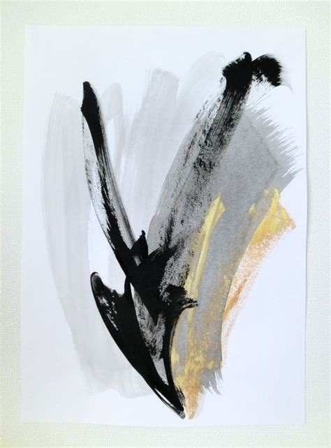 Abstract Black And White Watercolor Painting by Original Abstract Painting Black And White By