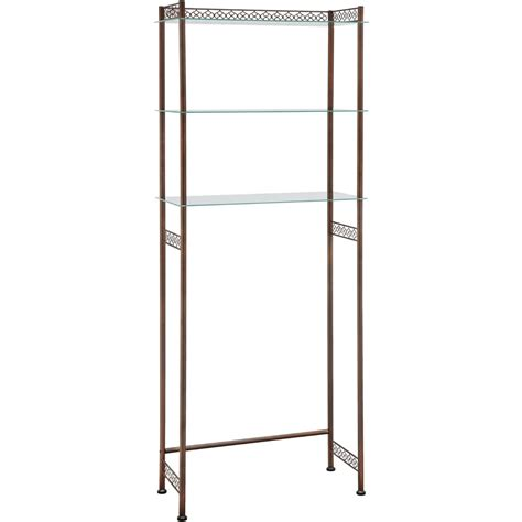 over the toilet etagere bronze in over the toilet shelving