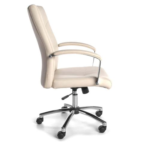 Available in brown, black and cream colours. OFM Essentials Faux Leather Executive Swivel Office Chair ...