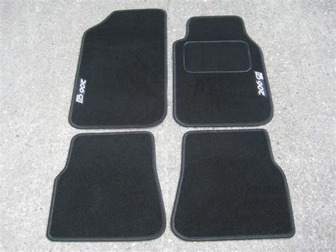 Car Mats In Black To Fit Peugeot 206 + Silver