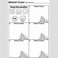 Draw The Weather Worksheet  Homeschool 2nd Grade  Pinterest  Daily Routine Schedule
