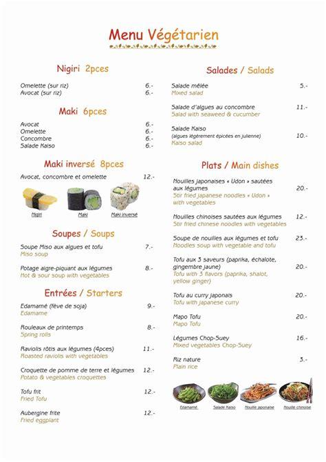 chinois en cuisine menu végétarien restaurant ume à chexbres
