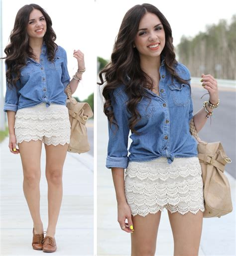 The Summer Trends 2018 Summer Lace Shorts Ideas