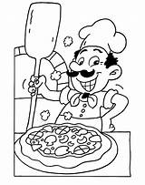 Coloring Pizza Animationsa2z Chef sketch template